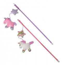 Camon | Canne à pêche pour chat licorne