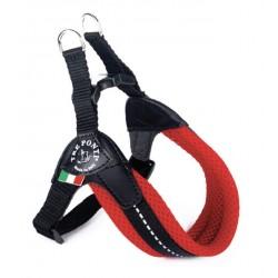 Tre Ponti Sottopancia | Harnais pour petit chien et chat avec sangle réglable | Rouge