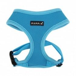 Puppia Soft | Harnais confortable et réglable pour chien | Bleu