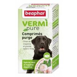 Beaphar VermiPure | 50 Comprimés vermifuge chien + 15 kg aux plantes