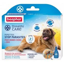 Beaphar DimethiCARE | 6 pipettes antiparasitaire naturelles | Chien de + 30 kg