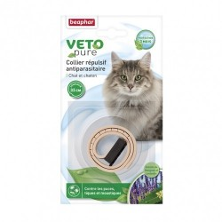 Beaphar VETOpure   Collier antiparasitaire chat et chaton   35 cm