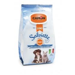 Camon  100 lingettes nettoyantes chien et chat   Senteur Bergamotte