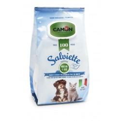 Camon   100 lingettes nettoyantes chien et chat   Senteur Musc et Aloe