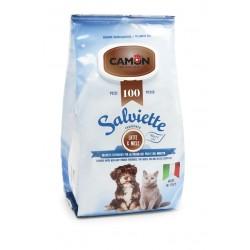 Camon   100 lingettes nettoyantes chien et chat   Senteur Lait et miel