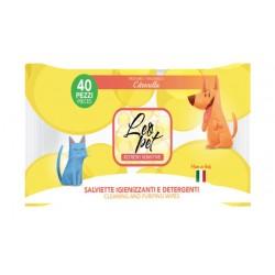 Leopet   40 Lingettes nettoyantes pour chien et chat   Senteur citronnelle