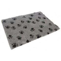 Leopet | Tapis de couchage gris motif pattes de chien