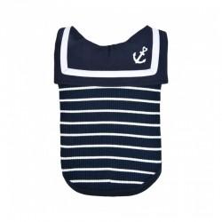 Pinkaholic CORDELIA | T-shirt pour petit chien | Marinière bleue