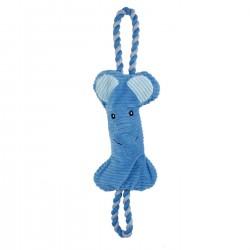 Bubimex   Jouet pour chien 2 en 1 peluche éléphant avec corde
