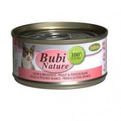 Bubimex | Bubi nature pâtée pour chat au poulet et poisson blanc | 70g