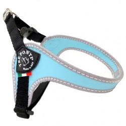 Tre Ponti Sottopancia | Harnais pratique pour petit chien et chat avec sangle réglable | Bleu