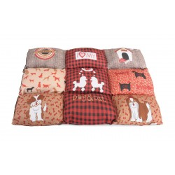 Camon | Coussin rectangulaire patchwork rouge
