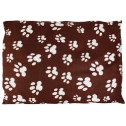 Karlie | Coussin marron motif pattes pour chien