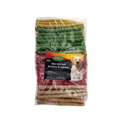 Bubimex | Sticks à mâcher colorés en peau de buffle | Friandises pour chien et chiot | Sachet de 100