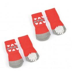 Camon   Chaussettes rouges antiglisse (vendues par 4)