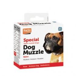 Karlie | Muselière pour chien en nylon noir | Museau court 32 cm