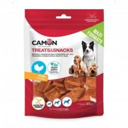 Camon | Carrés souples au poulet | Friandises pour chien et chiot | 300 g