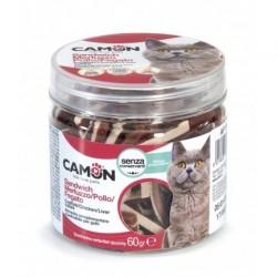 Camon | Friandises morue, poulet et foie pour chat | 60 g