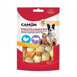 Camon | Os noués poulet et bœuf | Friandises pour chien | Sachet de 80 g