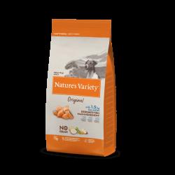 Nature's Variety | Original No Grain Mini au Saumon | Croquettes sans céréales pour chien de 1 à 10 kg