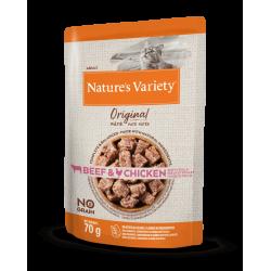 Nature's Variety Original | Pâtée pour chat sans céréales | Bœuf et Poulet | 70 g