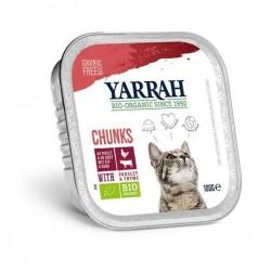 Bouchées de poulet et boeuf en sauce au persil et au thym, sans céréales chats