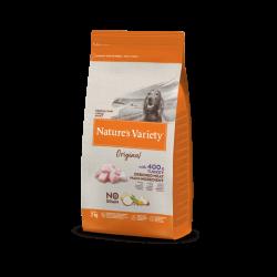 Nature's Variety | Original No Grain Medium Maxi Dinde | Croquettes sans céréales pour chien