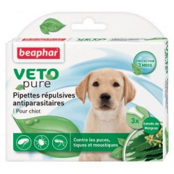 Beaphar VETOpure | 3 pipettes répulsives antiparasitaires chiot