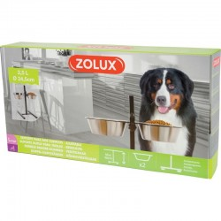 SUPPORT DOUBLE GAMELLE INOX L
