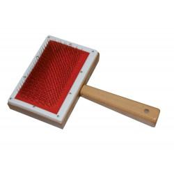 Camon | Carde manche en bois pour le brossage des chiens et chats