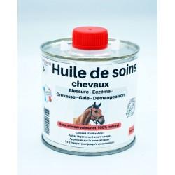 Huile de soins chevaux