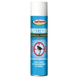 Saniterpen | Spray insecticide spécial puces pour l'habitat et l'environnement de l'animal | 400 ml