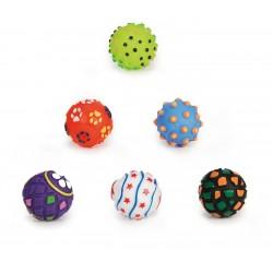 Beeztees | Lot de 6 balles vinyle sonores