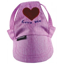 """Doggy Dolly   Casquette avec coeur """"Love me""""   Rose"""