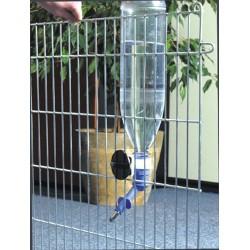 Beeztees | Pipette pour bouteille plastique avec fixation pour cage ou parc