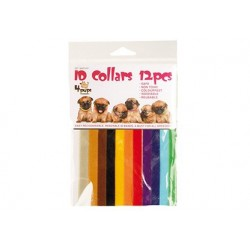 Transgroom   12 colliers pour chiot multicolores velcro