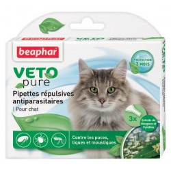 3 pipettes insectifuges chat Beaphar