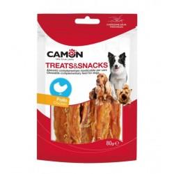 Camon | Fines lamelles de poulet | Friandises pour chiens et chiots | 80 g