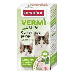 Beaphar VermiPure   50 Comprimés vermifuge chaton et chat aux plantes