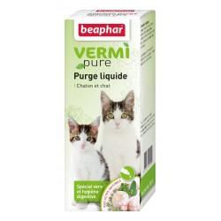 Beaphar VermiPure   Vermifuge naturel liquide pour chaton et chat aux plantes   50 ml