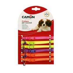 Camon   Lot de 6 colliers fluo en nylon pour chiots