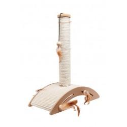 Flamingo Ella | Griffoir pour chat | Poteau et base en sisal avec jouets suspendus