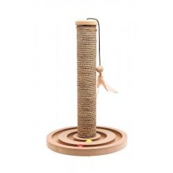 Karlie Boulier | Griffoir poteau en sisal avec jouets intégrés