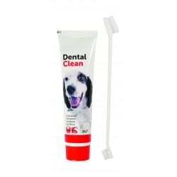 Flamingo   Dentifrice + Brosse à dents double pour chien