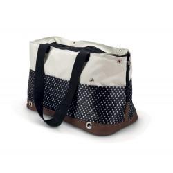 Beeztees   Kiomi Sac de transport pour petit chien en nylon motif pois