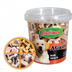 Bubimex | Bubi Snack Mixies - Seau de friandises pour chien | 500 g