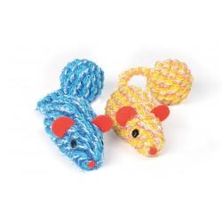 Camon | Lot de 2 souris en corde avec balle pour chat