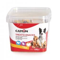 Camon | Biscuits fourrés à la volaille | Boîte de friandises pour chien de 530 g